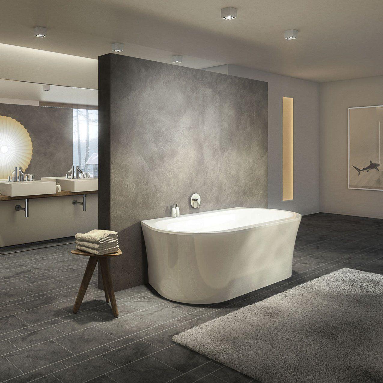 Freistehende Badewanne  Oval  Aus Acryl  Primeline Wall von Freistehende Badewanne An Wand Bild