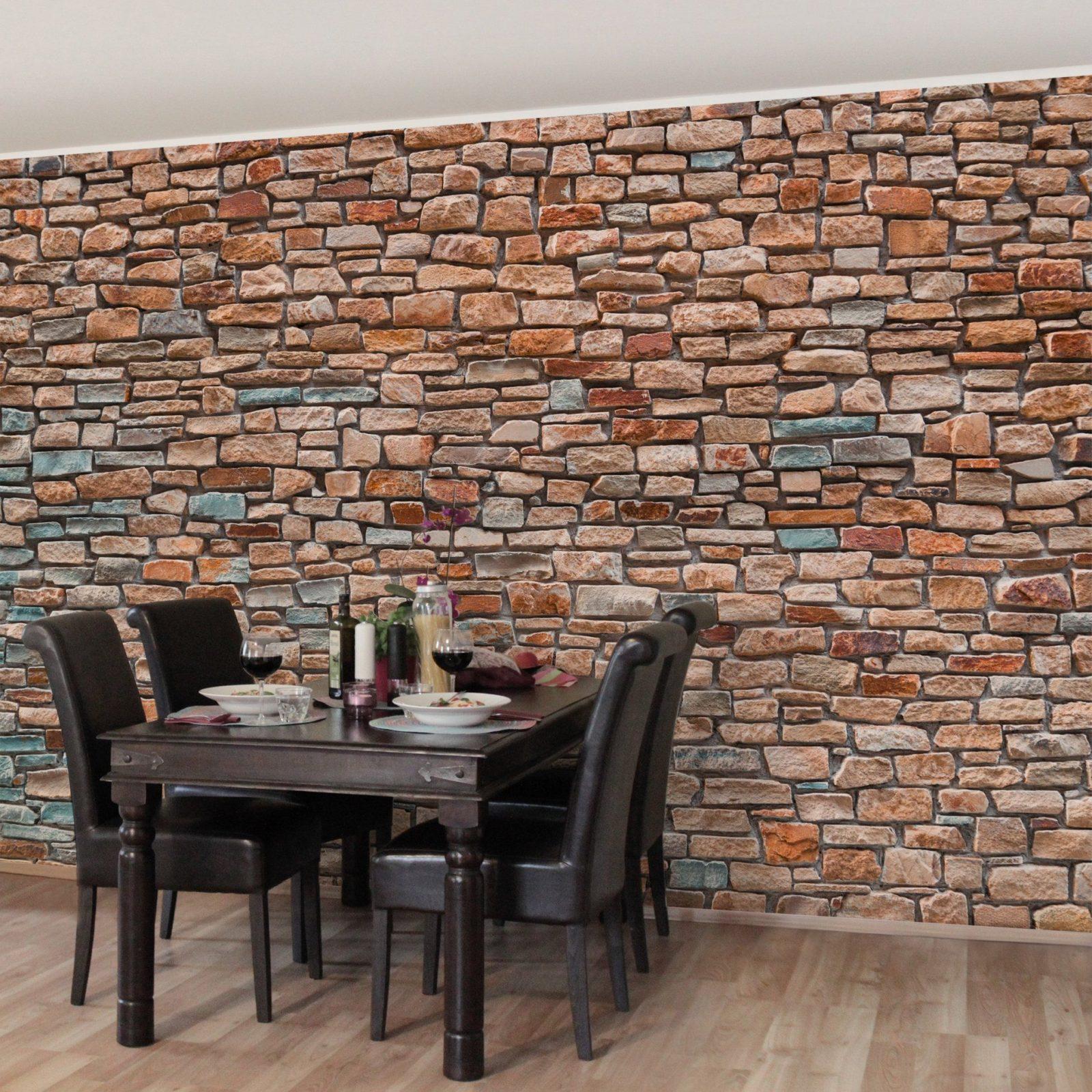 Frisch Tapete Steinoptik Wohnzimmer Schema von Tapete In Steinoptik Wohnzimmer Bild