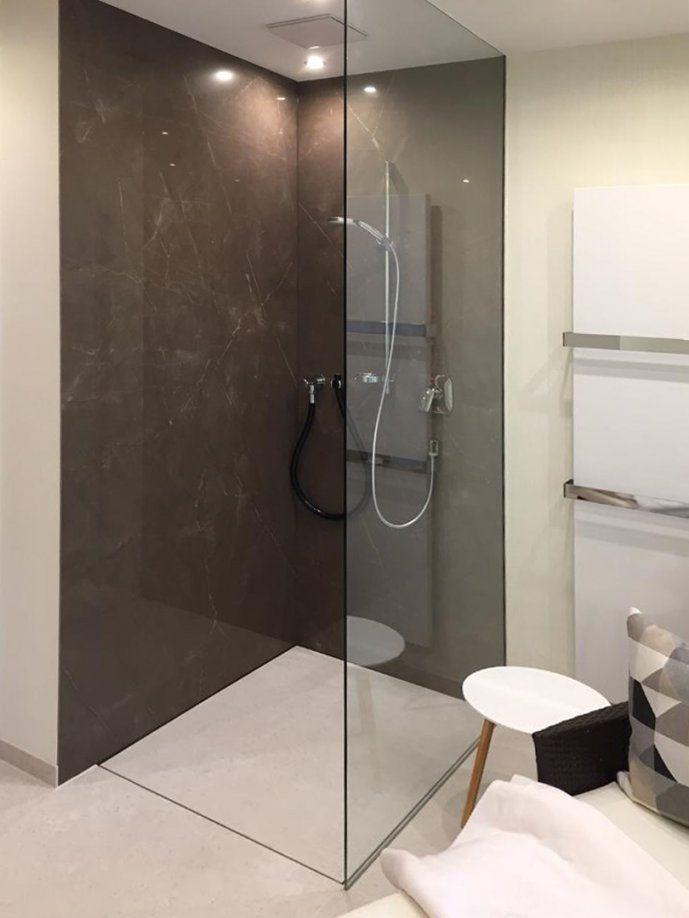 Fugenlose Duschen  Pflegeleicht Und Puristisch  Baqua von Dusche Wandverkleidung Ohne Fugen Bild