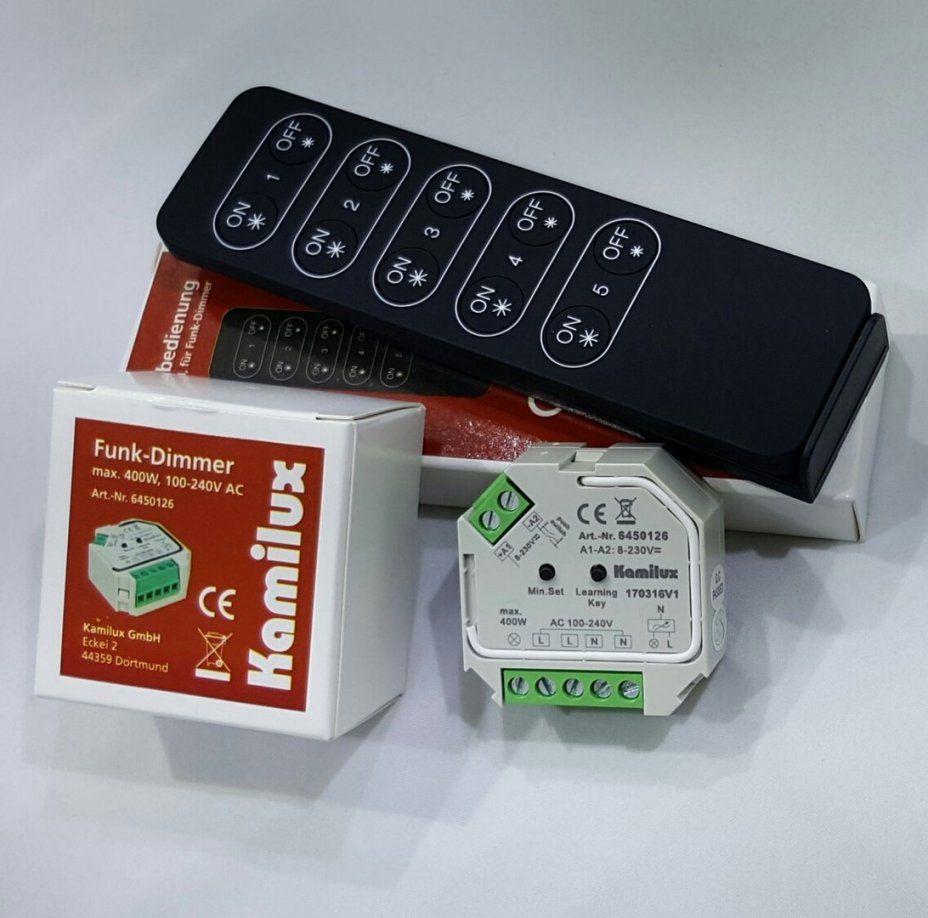 Funkdimmer Set Max 400 Watt Kamilux® Für Ledleuchtmittel Inkl von Led Funk Dimmer 230V Bild