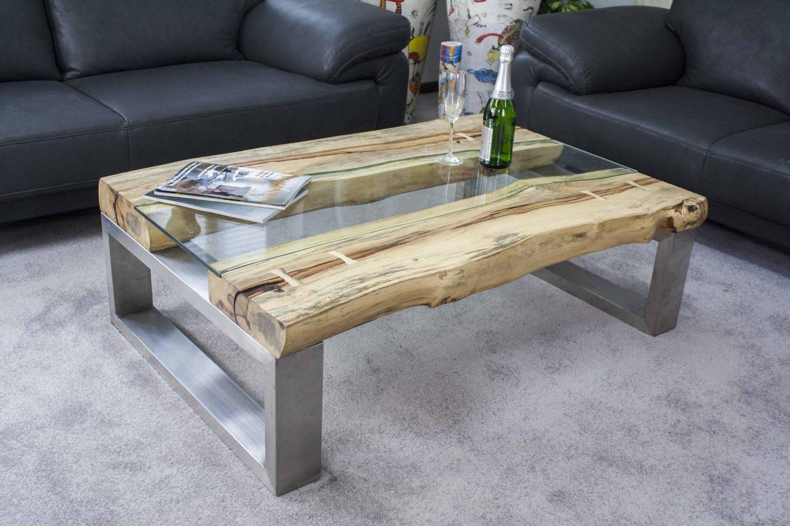 Funvit Zimmer Einrichten Mit Dachschrageisch Holz Modern Couchtisch von Couchtisch Glas Metall Design Bild