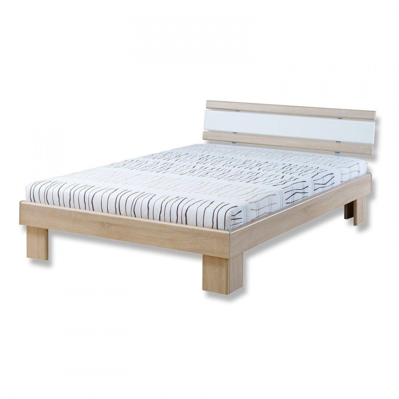 Futonbett San Marino  Sonoma Eicheweiß  140X200 Cm  Betten Mit von Bett 140X200 Sonoma Eiche Bild