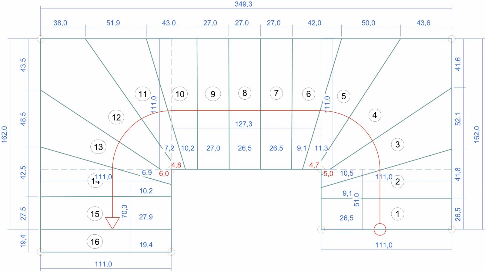 G654 Padang Dunkel von 1 4 Gewendelte Treppe Berechnen Photo