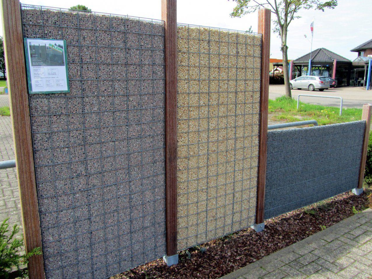 Gabionen Sichtschutz Selber Bauen von Sichtschutz Aus Stein Selber Bauen Bild