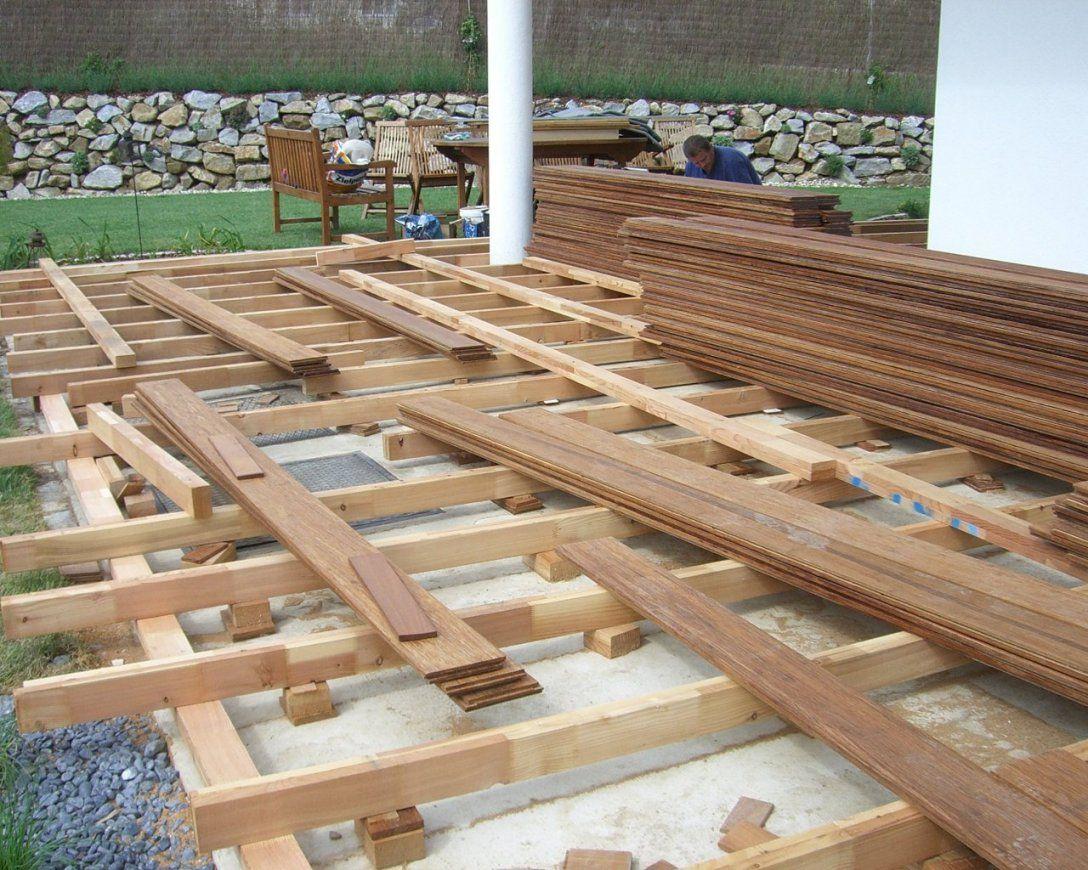Gallery Of Terrasse Holz Unterkonstruktion Anleitung  Terrasse Aus von Gartentreppe Selber Bauen Anleitung Bild