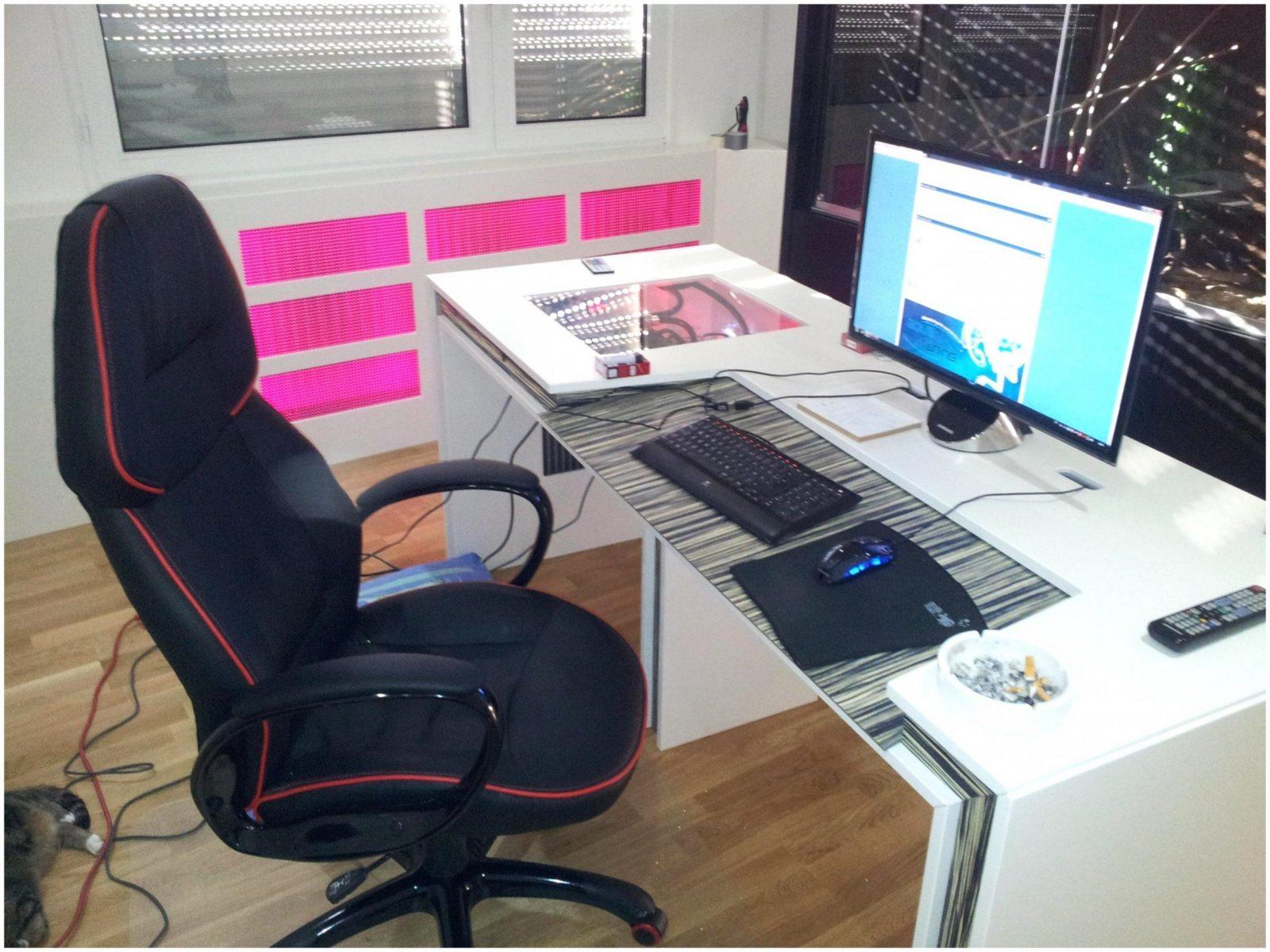 gaming tisch selber bauen haus design ideen. Black Bedroom Furniture Sets. Home Design Ideas