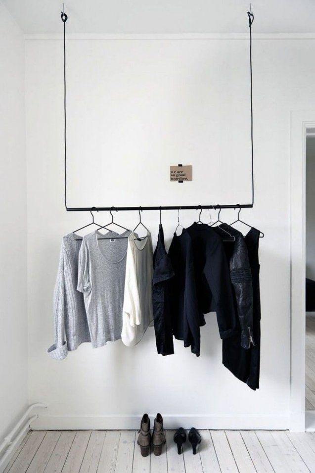 Ganz Einfache Variante Zur Befestigung An Der Decke  Interior von Kleiderstange Von Der Decke Bild