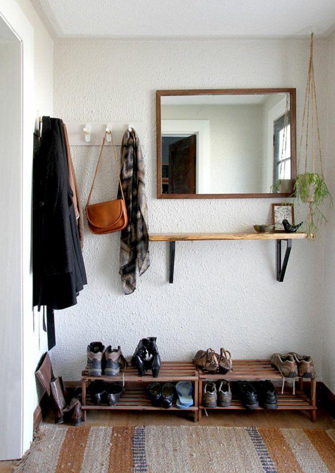 Garderobe Selber Bauen  Anleitung Und Inspirierende Ideen von Holz Garderobe Selber Machen Bild