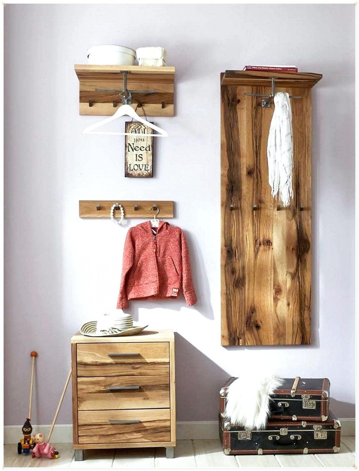 Garderobenpaneel Selber Bauen Vintage Garderobe Garderoben Von Holz