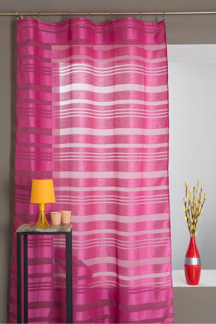 Gardine Für Hohe Fenster 140 X 270 Mit Kräuselband Gestreift von Gardinen Für Hohe Fenster Photo