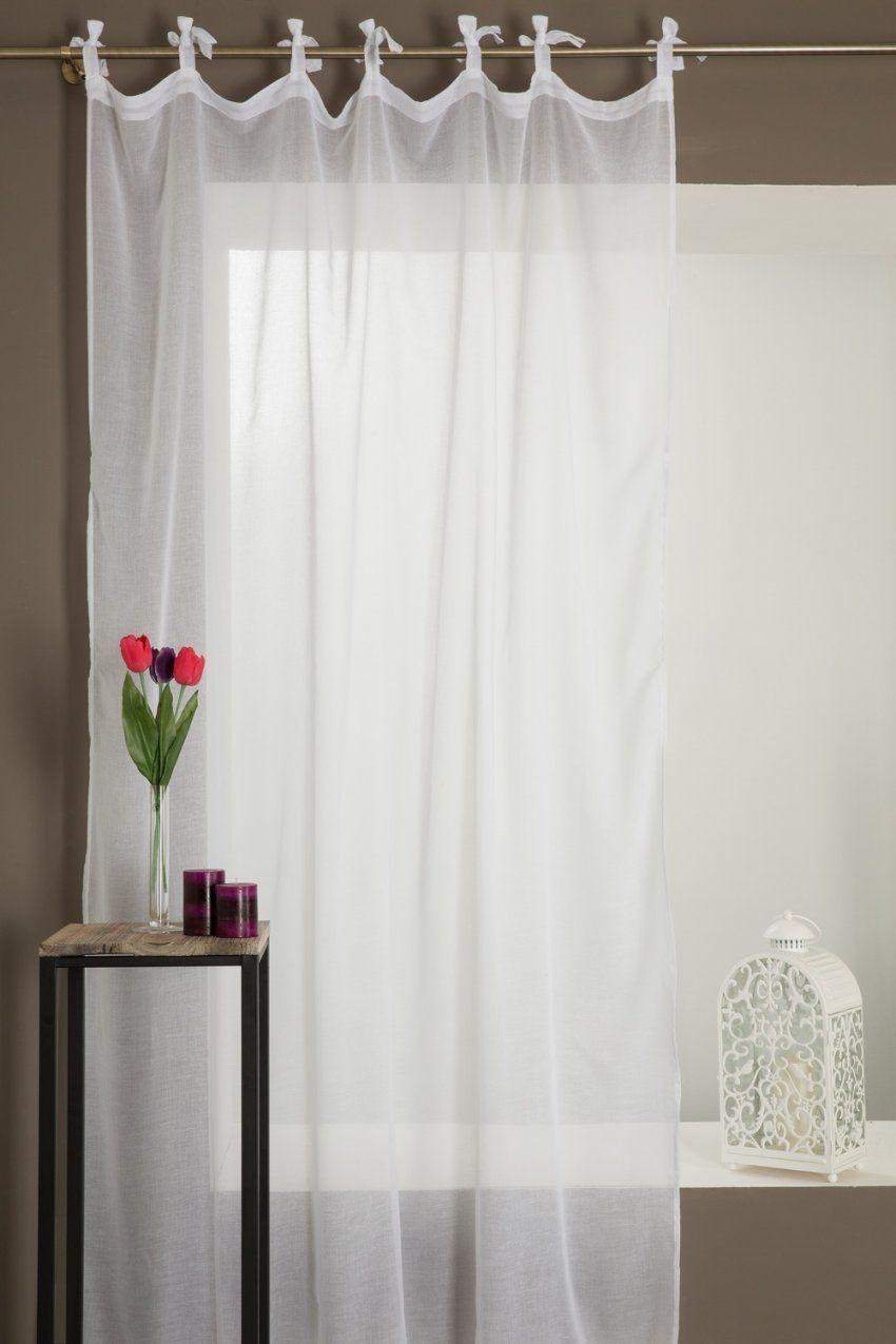 Gardine Für Hohe Fenster In Leinenoptik Mit Bindebändern von Gardinen Für Hohe Fenster Photo