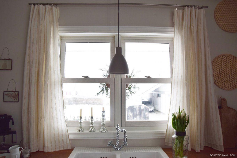 gardinen im landhausstil selber n hen haus design ideen. Black Bedroom Furniture Sets. Home Design Ideas