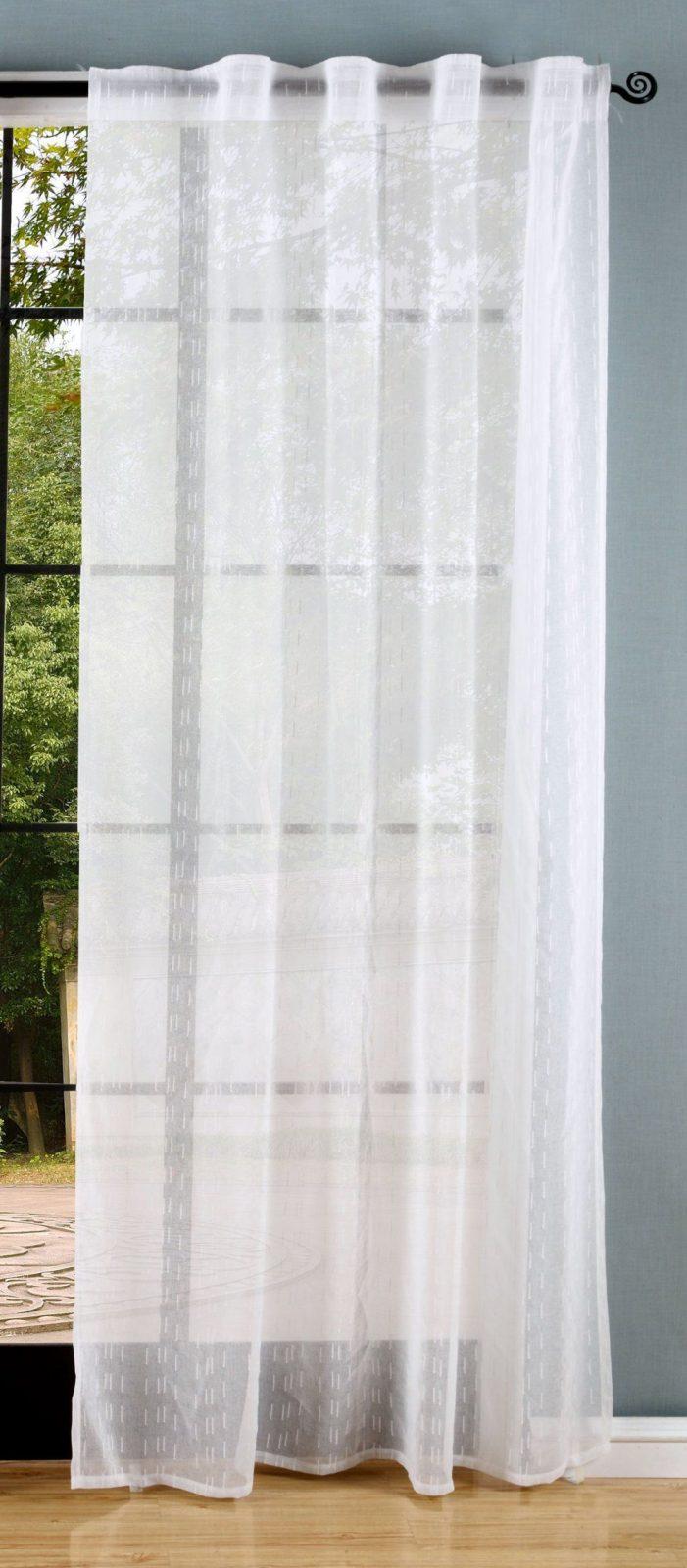 Gardine Webstruktur Leinen Optik Transparent Verdeckte Schlaufen von Gardinen Mit Verdeckten Schlaufen Bild