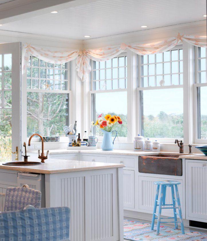 Gardinen Für Küchenfenster von Küchenfenster Gardinen Ideen Bild