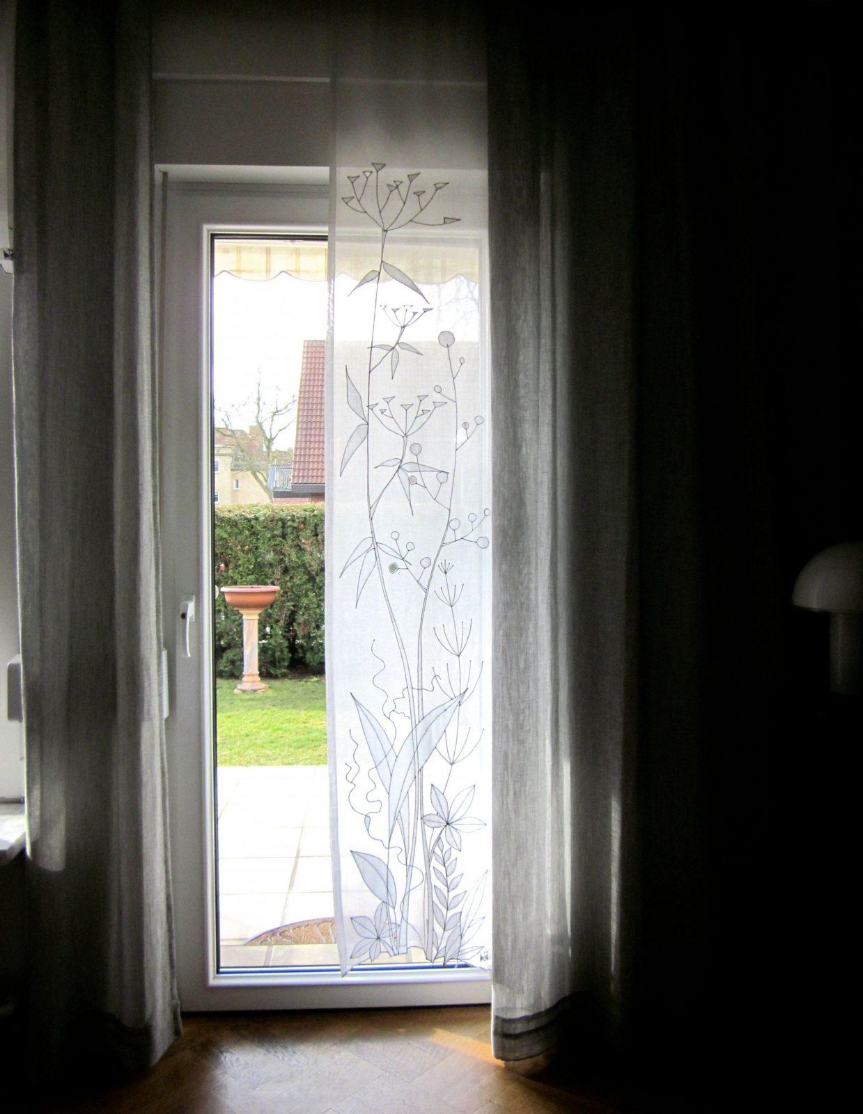 Gardinen Liebenswürdig Gardinen Für Grosse Terrassenfenster von Terrasse Fenster Gardinen Photo