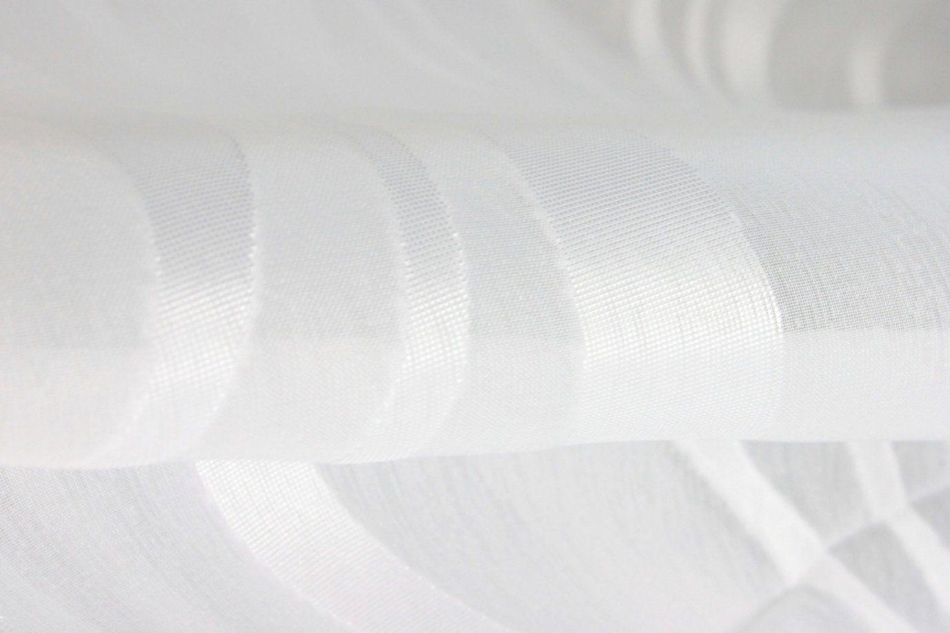 Gardinen Nach Maß Kräuselband Scherli Voile Weiß Dream  Gardinen von Gardine Weiß Transparent Kräuselband Bild