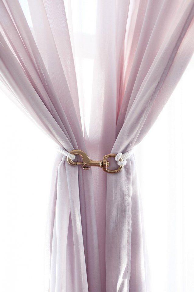 Gardinen Raffhalter Selber Machen  16 Schöne Ideen Für Die Vorhänge von Gardinen Raffhalter Selber Machen Bild