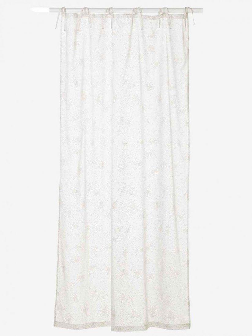 Gardinen Schleifen Binden A X Cm Bistro Gardine Bestickt Weiss Sehr von Vorhänge Mit Schlaufen Zum Binden Bild