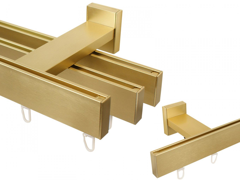 Gardinenschienensystem Messing von Gardinenschiene 3 Läufig Mit Blende Bild