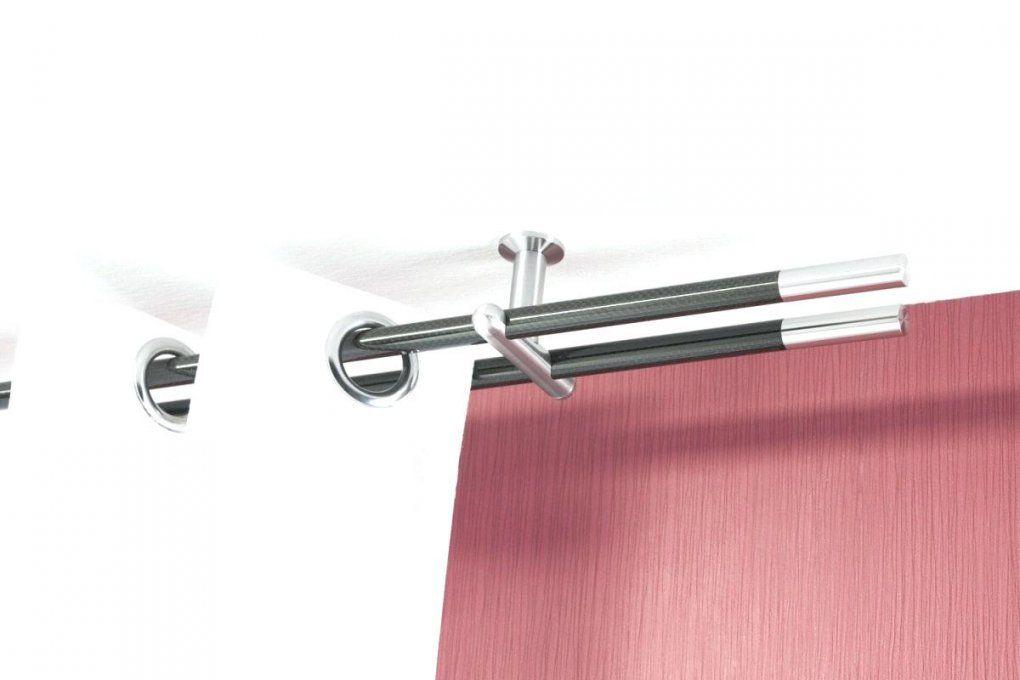 Gardinenstange Decke Deckenmontage Weiss Deckenhalterung Schwarz von Gardinenstange An Der Decke Befestigen Photo