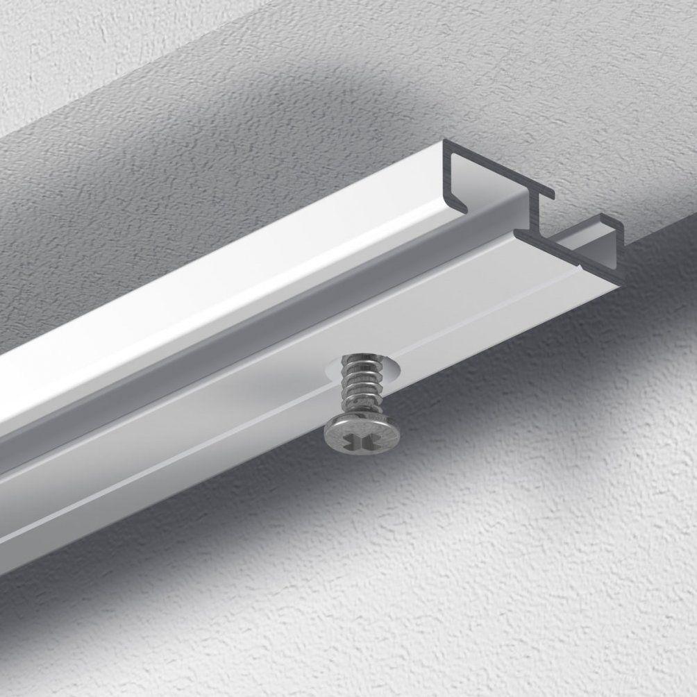 Gardineum Gardinenschiene Vorhangschiene Aluminium Vorgebohrt Weiß 1 von Alu Gardinenschiene 1 Läufig Bild