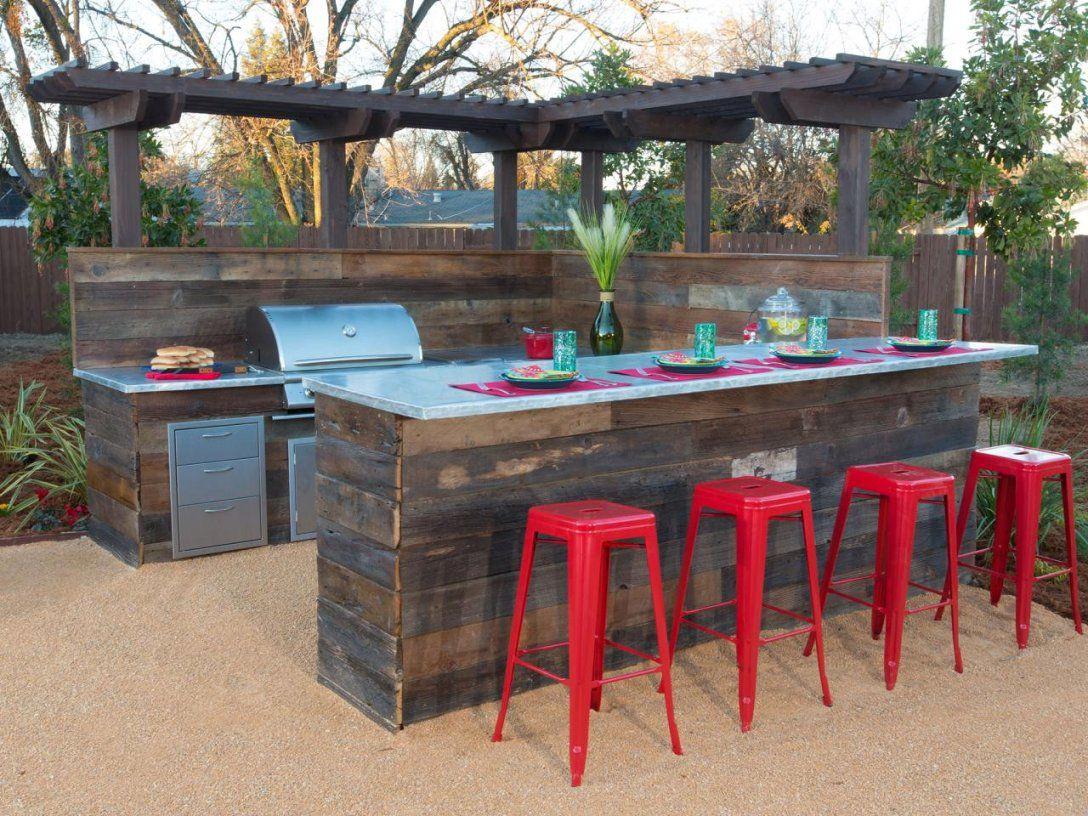 Garten Bar  Design von Gartenbar Theke Selber Bauen Photo