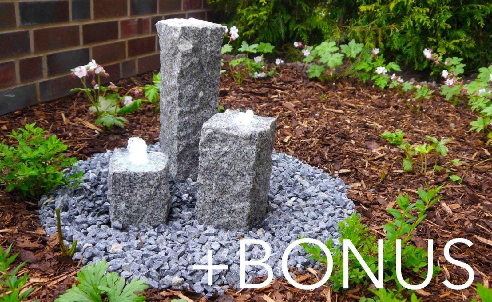 Garten Brunnen  Terrassenbrunnen Bauanleitung + Bonusmaterial von Brunnen Im Garten Anlegen Bild