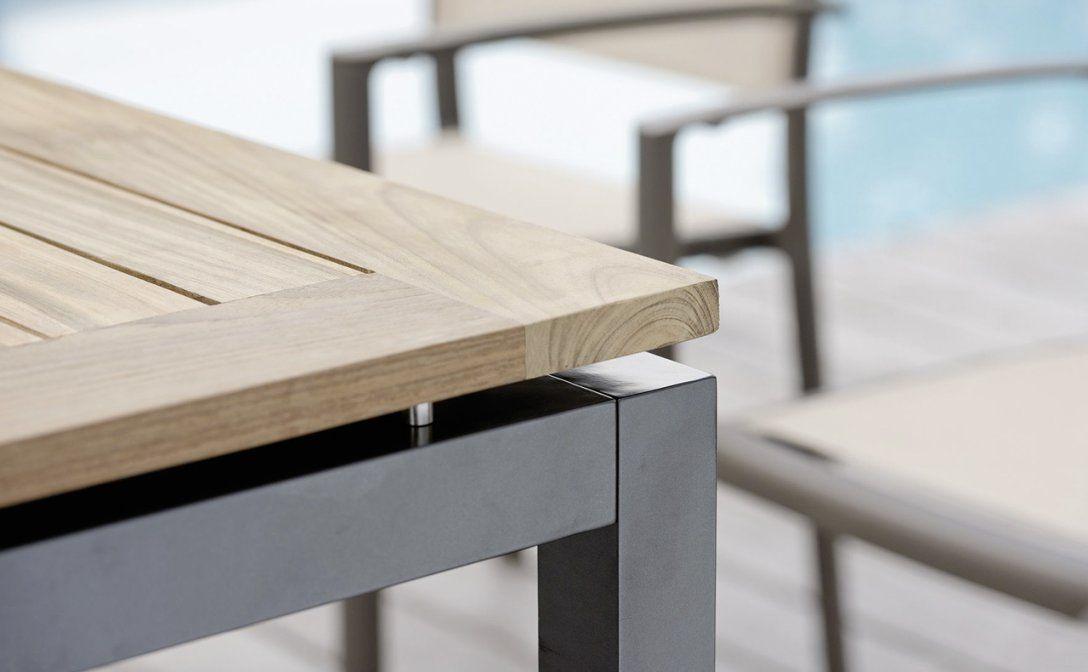 Garten  Gartenmöbel  Tischsysteme  Holzfachmarkt  Holzhandel von Alu Gartentisch Mit Holzplatte Photo