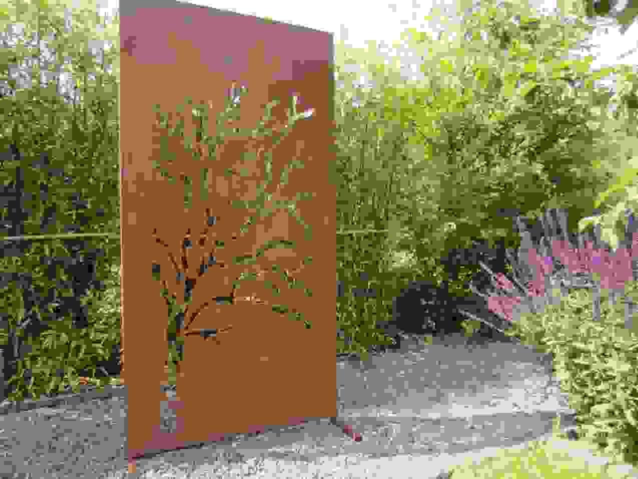 Garten Im Quadrat Ist Frisch Design Von Sichtschutz Metall Rost von Sichtschutz Garten Metall Rost Photo