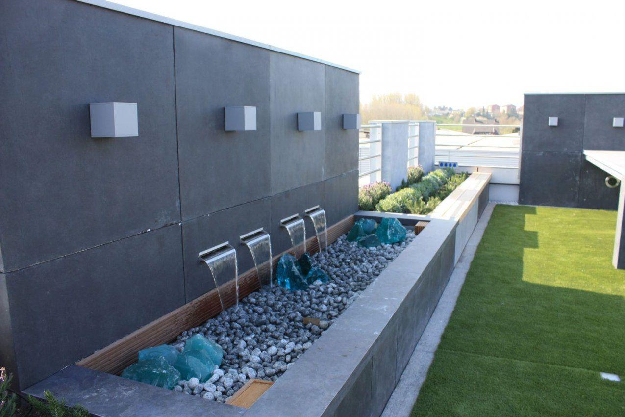 Garten Im Quadrat  Sichtschutzwand Aus Fiberglas Moderne Beton von Moderner Sichtschutz Für Garten Photo