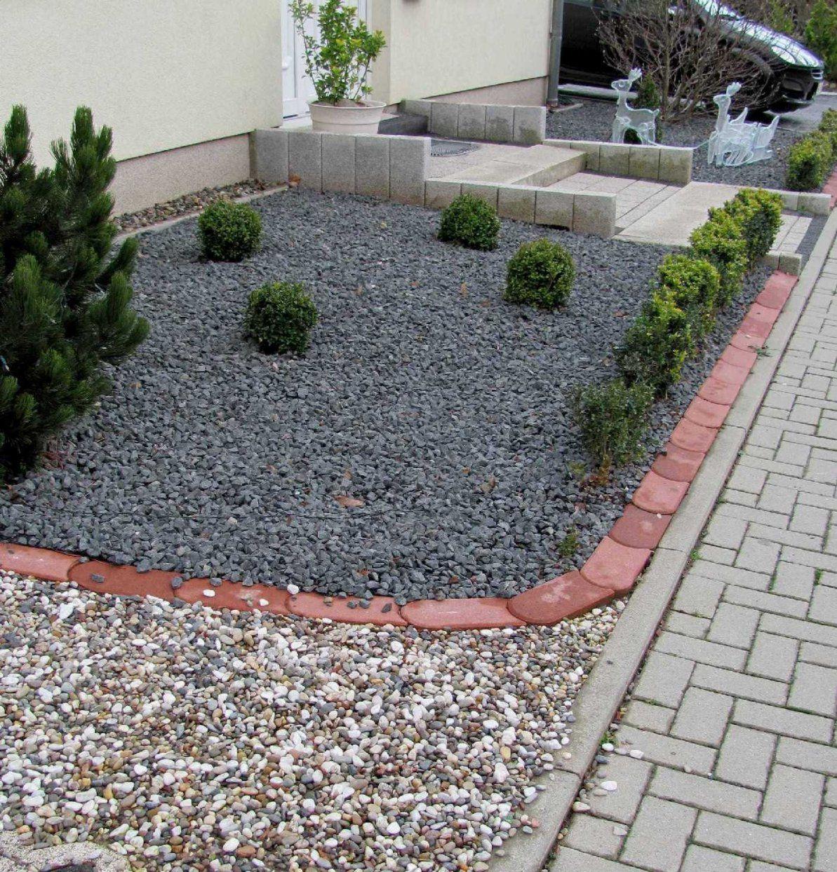 Gartenanders Vorgartengestaltung Mit Kies (Pflegeleicht) von Gartengestaltung Mit Steinen Und Kies Bilder Photo