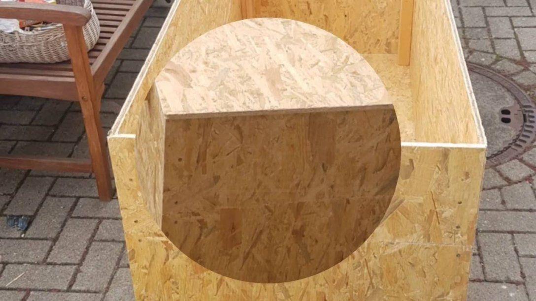 Gartenbox Selber Bauen  Youtube von Auflagenbox Holz Selber Bauen Bild