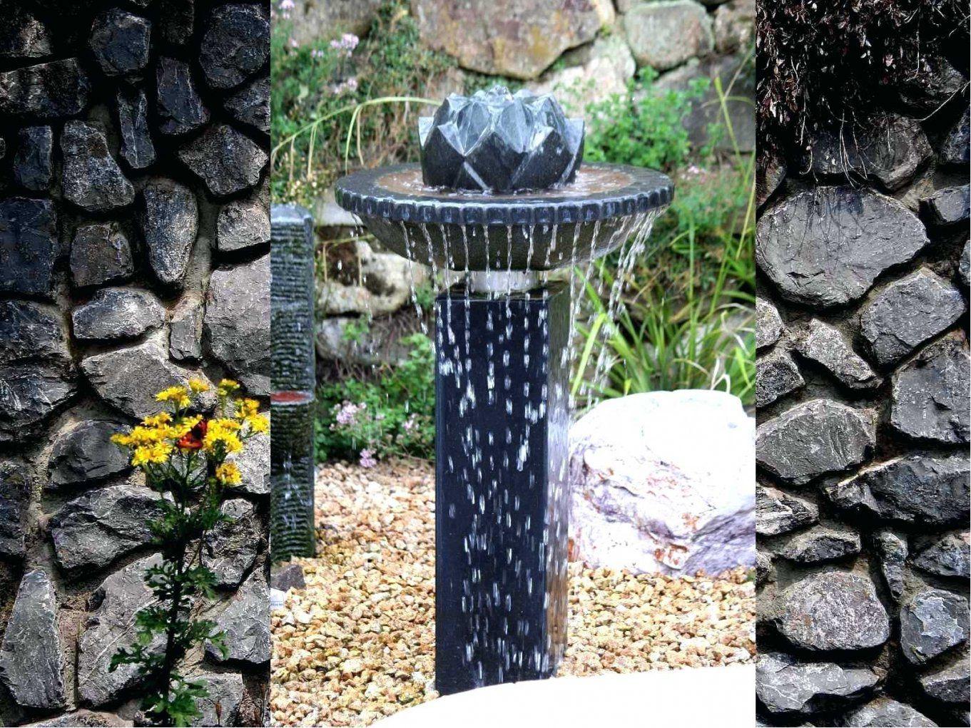 Gartenbrunnen Selber Bauen Stein A Brunnen Wasserfall Selbst von Brunnen Garten Selber Bauen Bild