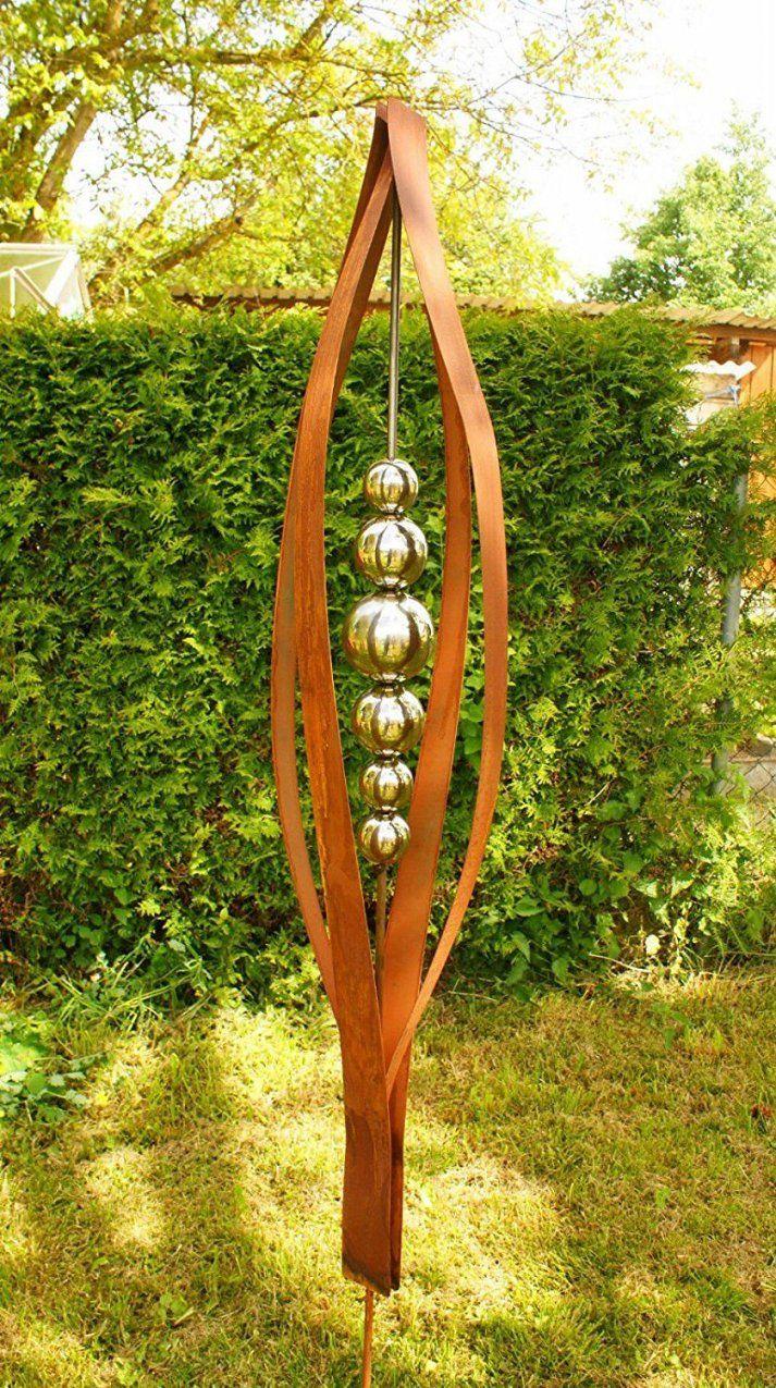 Gartendeko Rost Skulptur 2 Meter Tulpia  Garten  Pinterest von Rost Skulpturen Für Den Garten Photo