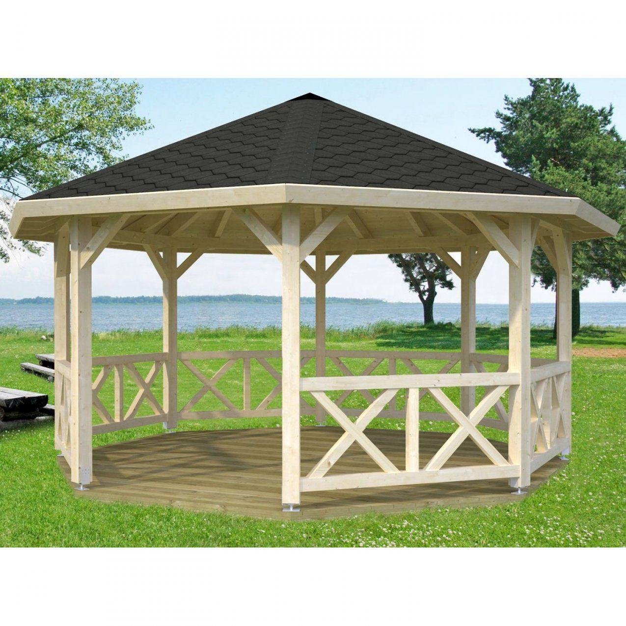 Gartenlauben & Holzpavillons Online Kaufen Bei Obi von Pavillon Metall Rund 3M Photo