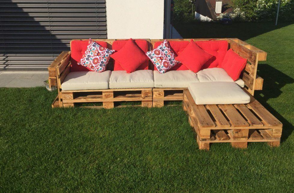 Gartenlounge Aus Paletten Selber Bauen  Heimwerkerking von Garten Sofa Selber Bauen Bild