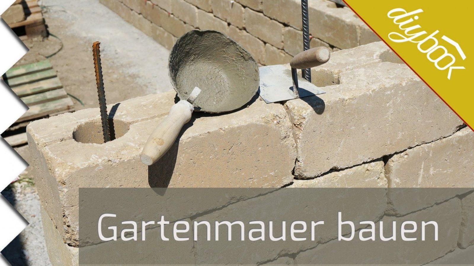 Gartenmauer Selber Bauen  Die Betonsteinmauer  Youtube von Sichtschutz Aus Stein Selber Bauen Bild