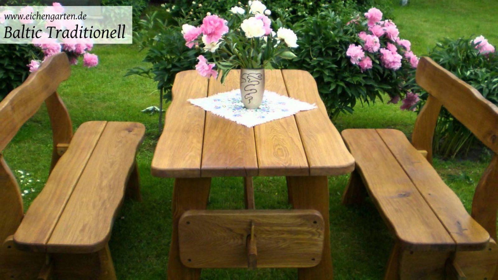 Gartenmöbel Aus Holz Massiv  Youtube von Holz Gartenmöbel Selber Bauen Bild