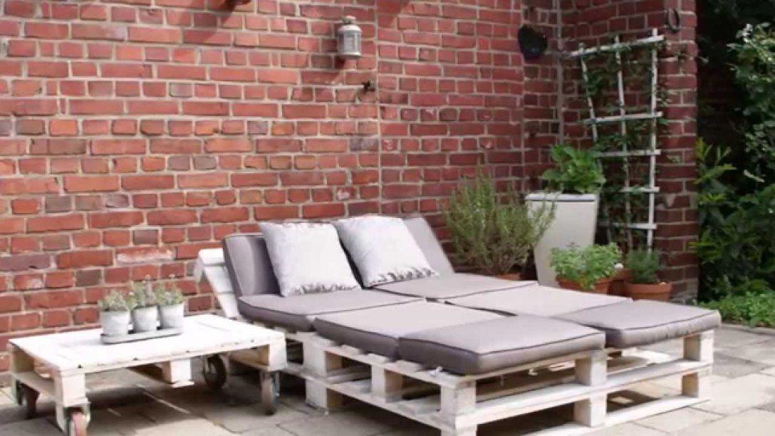 Gartenmöbel Aus Paletten  Youtube von Gartenliege Selber Bauen Aus Paletten Photo
