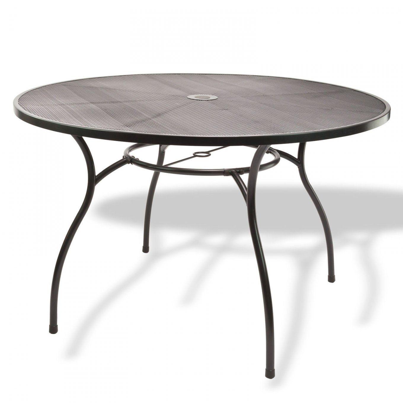 Gartenmöbel Metall 1 X Tisch Rund 120X71 + 4 X Stuhl Set von Gartentisch Holz Rund 120 Bild