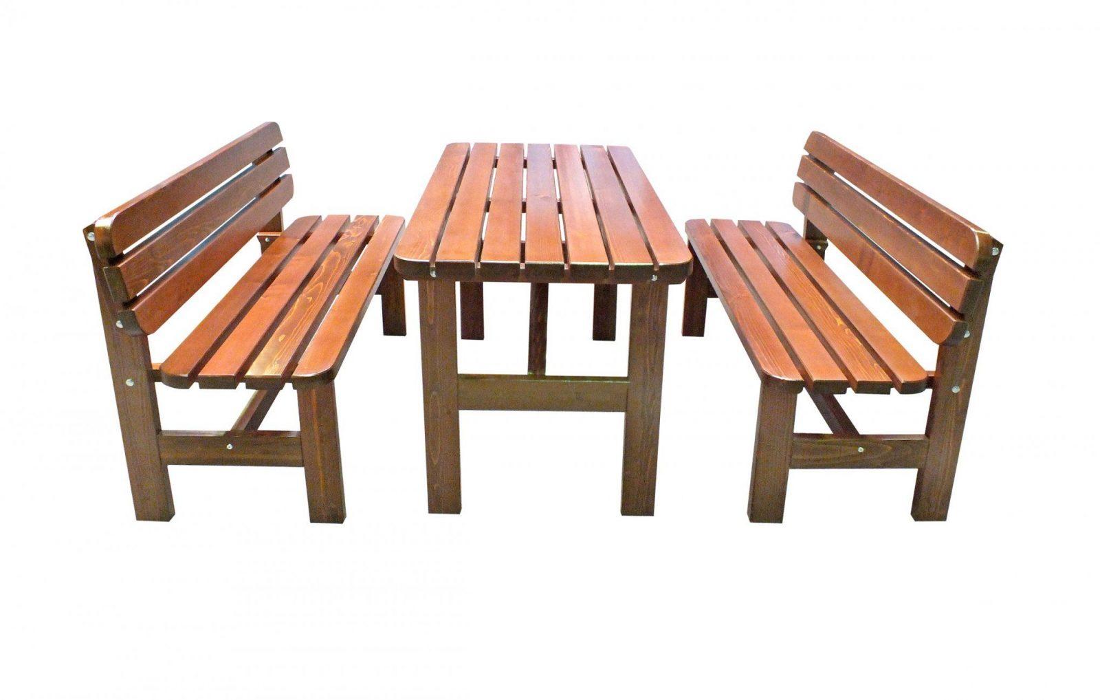 Gartenmöbel Set  Sitzgruppe Bregenz Braun 150X70Cm  Bei von Gartenmöbel Set Holz Mit Bank Bild