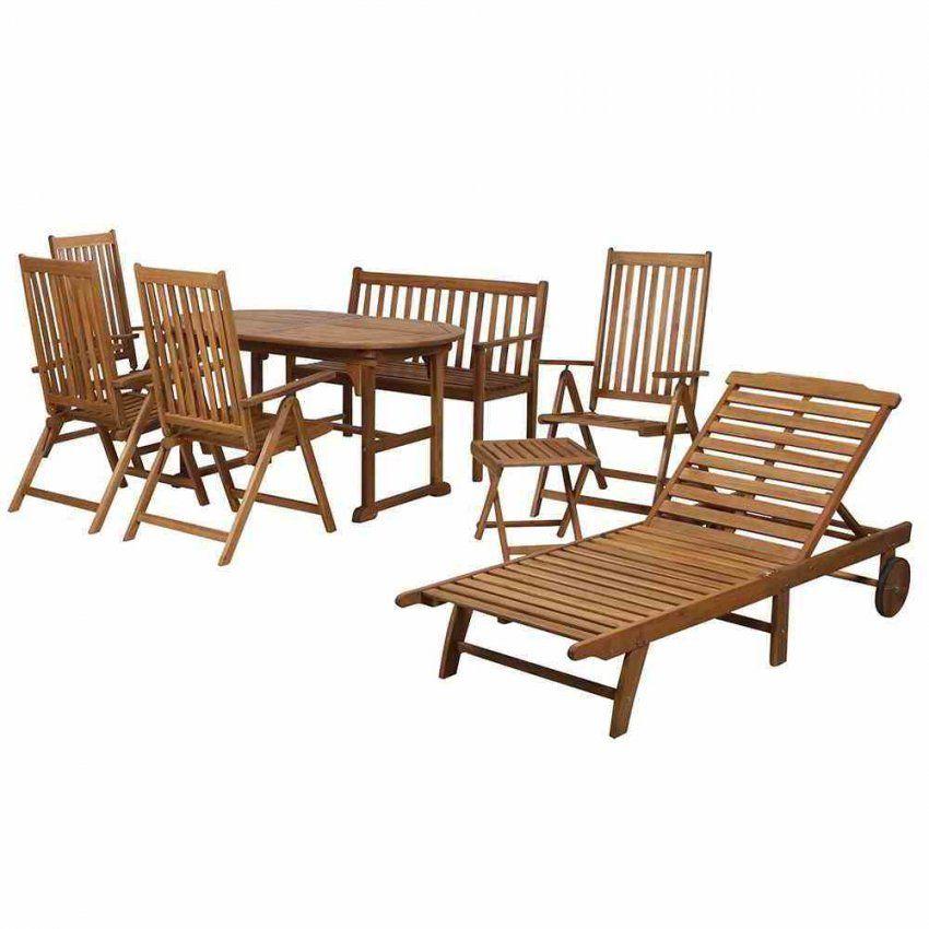 Gartenmöbelset Garnitur Holz Tisch 4Klappstühle Akazie 8Teilig von Gartenmöbel Set Holz Mit Bank Bild