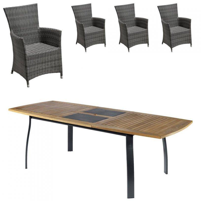 Gartenmöbelset Kingstonkansas (1 Tisch 4 Komfortsessel von Jutlandia Gartenmöbel Dänisches Bettenlager Bild
