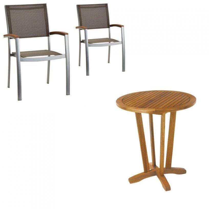 Gartenmöbelset Safarisantiago (Cafétisch 2 Stühle Jutlandia von Jutlandia Gartenmöbel Dänisches Bettenlager Bild