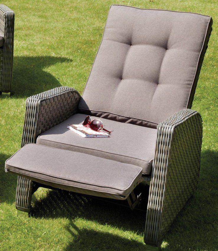 Gartensessel Mit Fusteil von Rattansessel Mit Verstellbarer Rückenlehne Bild