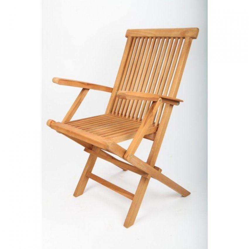 Gartenstuhl Teak Holz Mit Armlehne (Klappbar + 5Fach Verstellbar Von  Gartenstuhl Klappbar Holz Metall Photo