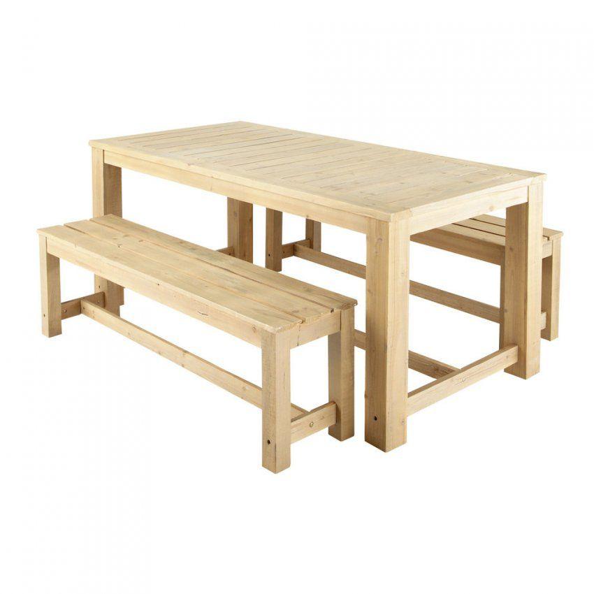 Gartentisch + 2 Bänke Aus Holz B 180 Cm  Maisons Du Monde von Gartentisch Mit 2 Bänken Photo