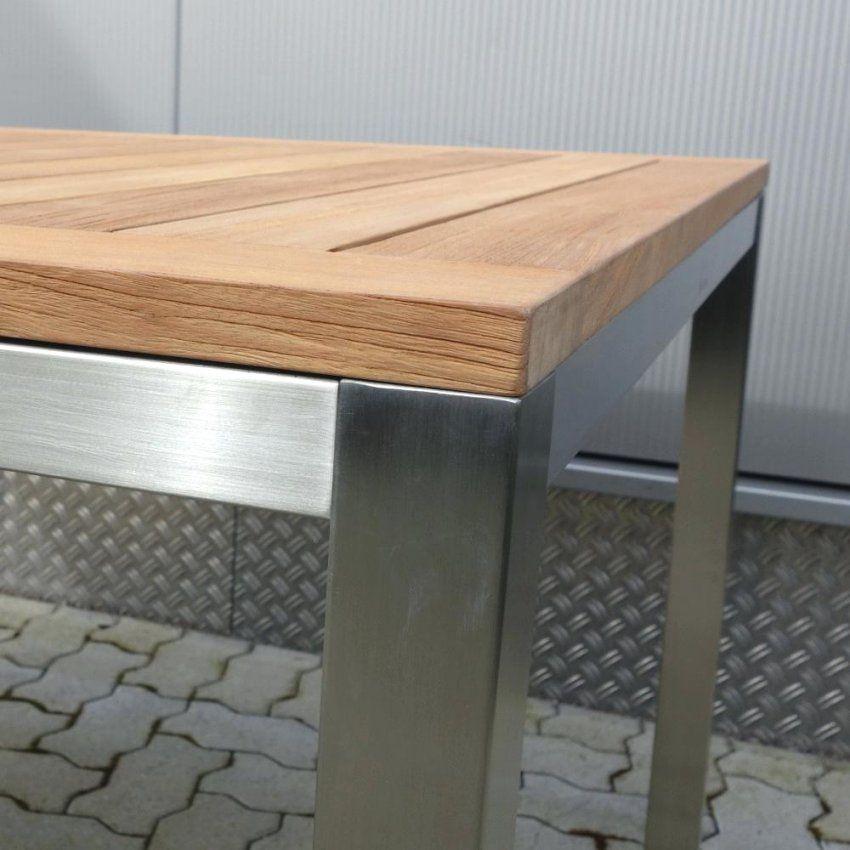 Gartentisch 90X90 Klappbar Cool Alu X Von Teak Edelstahl Ausziehbar Bild
