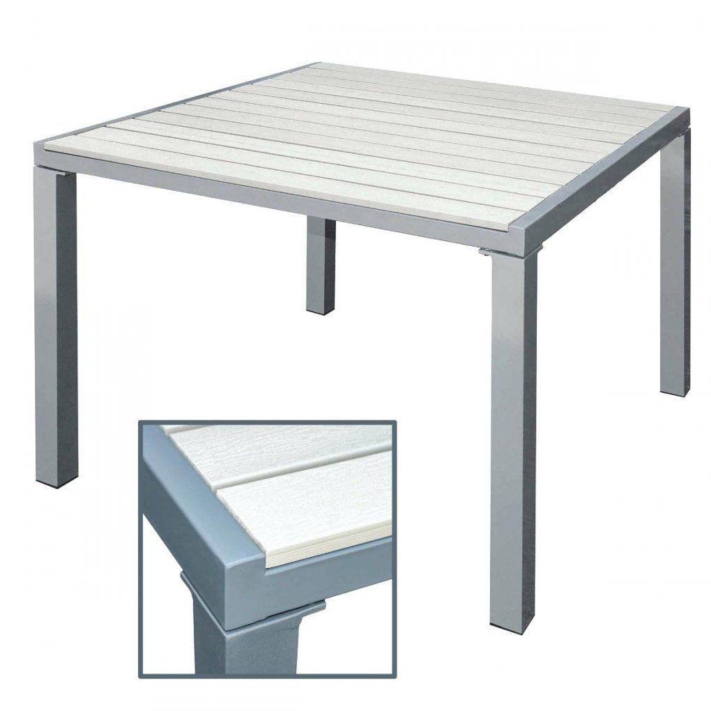 Gartentisch Alu Gartentisch Weiss 160 Cm Esstisch Aluminium von Alu Gartentisch Mit Holzplatte Photo
