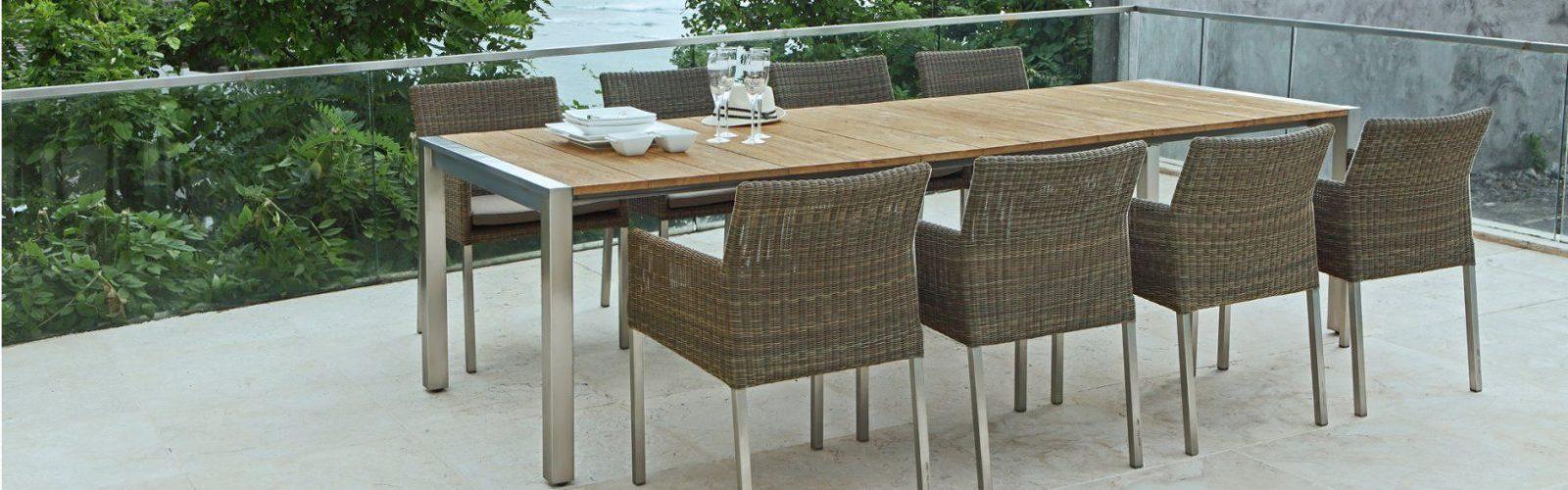 Gartentisch Aluminium Holz Perfect Gartentisch Ausziehbar Oval von Alu Gartentisch Mit Holzplatte Photo